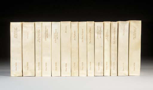 WILDE, Oscar (1854-1900).  [Works], edited by Robert Ross, London: Methuen, 1908.