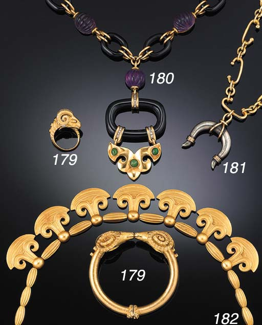 A panel necklace by Zolotas,