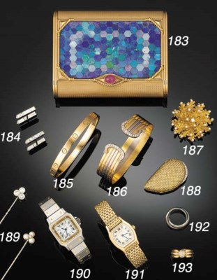 A Cartier 9ct. gold, opal and