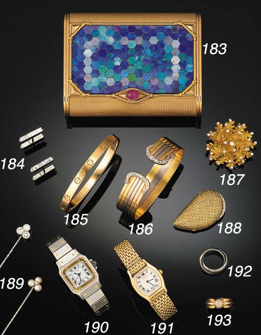 A pair of Cartier diamond set