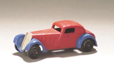 A pre-war Dinky lead-cast red