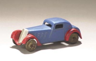 A pre-war Dinky lead-cast blue