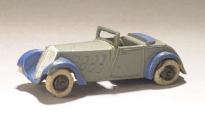 A pre-war Dinky lead-cast grey