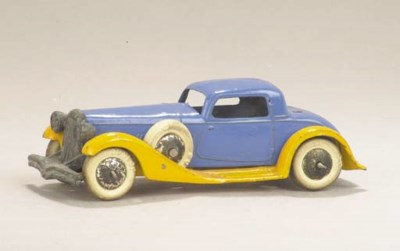 A pre-war Dinky 24f yellow and