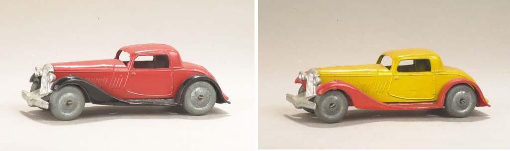 Dinky 24f Two-Door Coupés with metal wheels