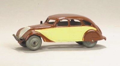 A post-war Dinky brown and cre
