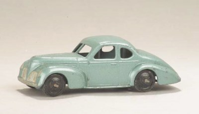 A post-war Dinky metallic blue