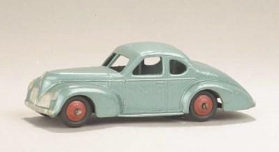 A post-war Dinky metallic blue
