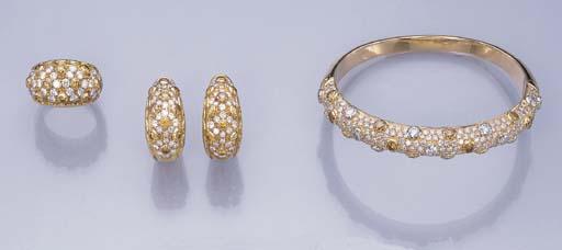 A SET OF DIAMOND AND COLOURED