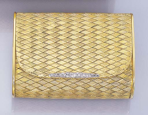 A GOLD AND DIAMOND CASE