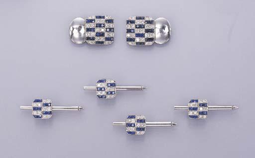 A SAPPHIRE AND DIAMOND DRESS S