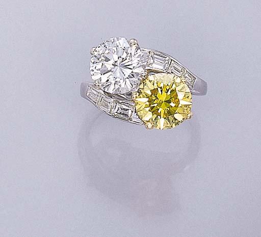 A TWO-STONE DIAMOND AND TREATE