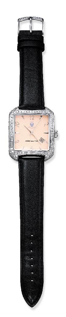 A DIAMOND-SET WRISTWATCH, BY M