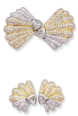 A SET OF DIAMOND JEWELLERY, BY