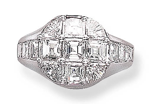 A DIAMOND COCKTAIL RING, BY FA