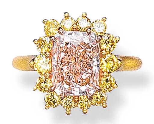 A FANCY BROWNISH PINK DIAMOND