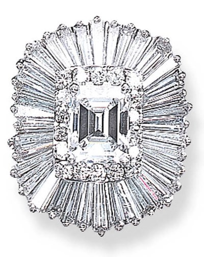 A DIAMOND BALLERINA RING