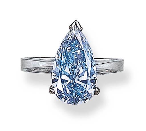A RARE FANCY VIVID BLUE DIAMON