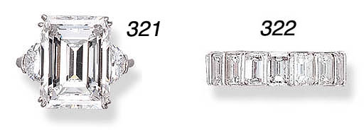 AN ATTRACTIVE DIAMOND RING, BY