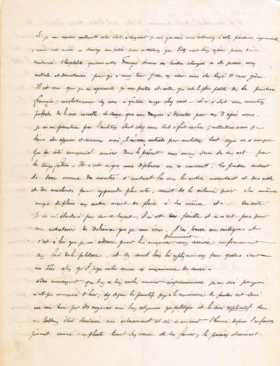 GAUGUIN, Paul. Manuscrit autog