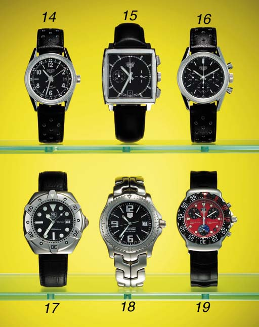 TAG Heuer. A stainless steel l