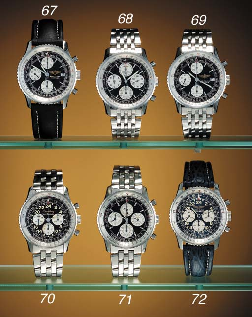 Breitling. A stainless steel l