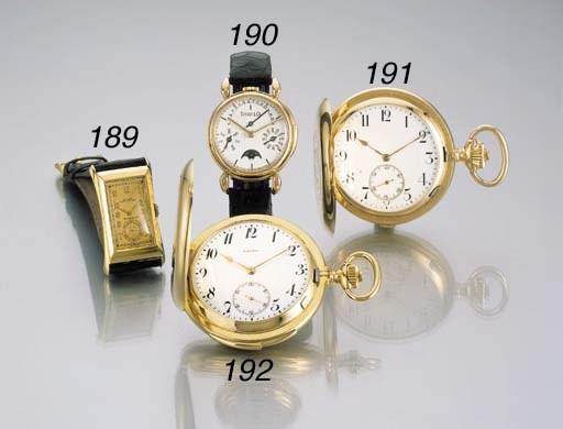 Rolex. A fine 18K gold rectang