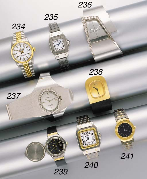 Bulgari. A stainless steel and