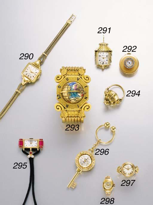 Swiss. An 18K gold and diamond