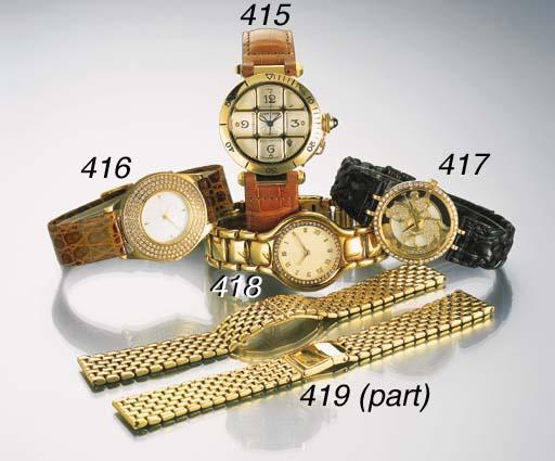 A lot of three 18K gold bracel