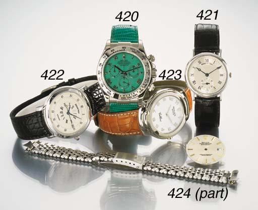 Rolex. An 18K white gold wrist