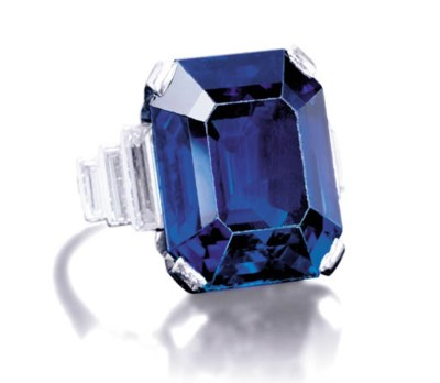 AN IMPORTANT SAPPHIRE RING, BY