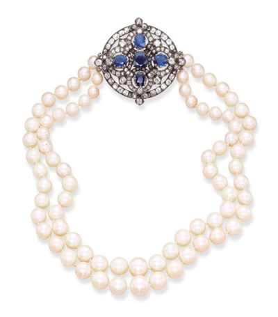 A TWO-STRAND CULTURED PEARL, D