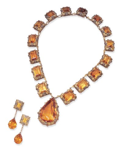 A SUITE OF CITRINE JEWELLERY