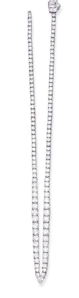 A DIAMOND LINE NECKLACE, BY HA