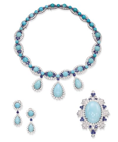 A SUITE OF TURQUOISE, SAPPHIRE