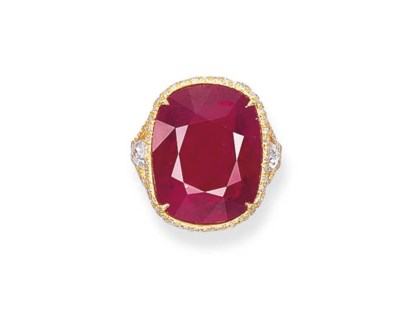 AN IMPRESSIVE RUBY RING