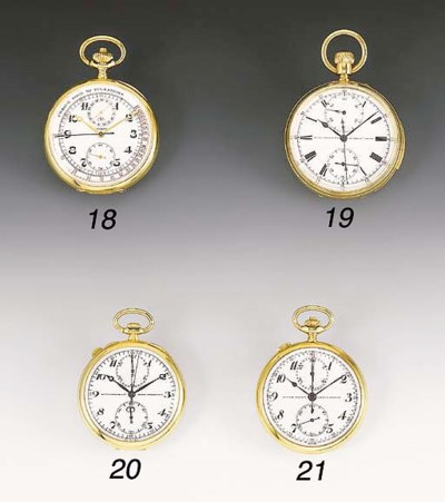 LONGINES, AN 18CT GOLD OPEN FA