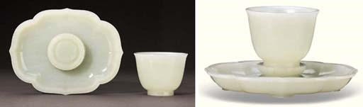 A FINE WHITE JADE IMPERIAL CUP