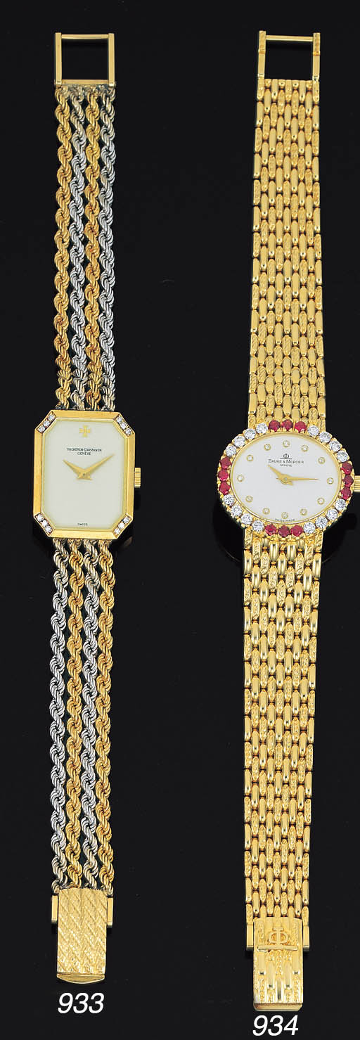 BAUME & MERICER. A LADY'S 18K