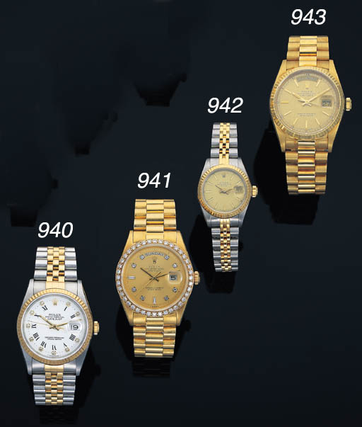 ROLEX. AN 18K GOLD AND LATER D