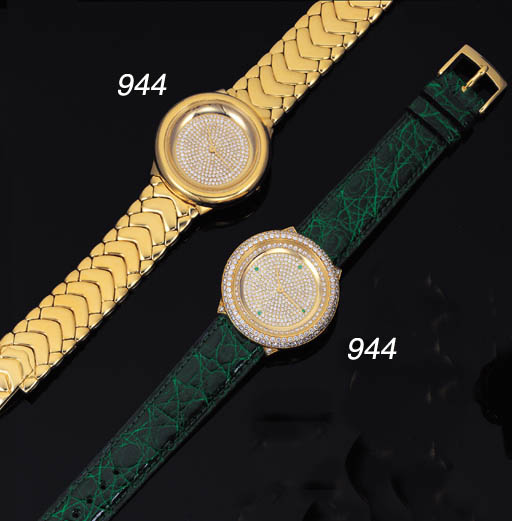 GRAFF. A LOT OF TWO 18K GOLD A
