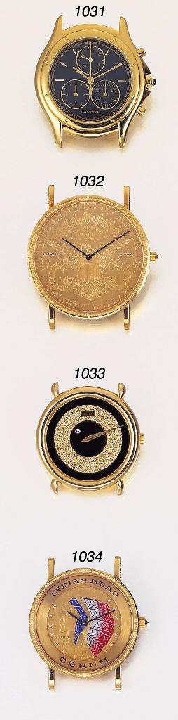 CORUM. AN 18K GOLD, ENAMEL AND
