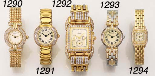 AN 18K GOLD AND DIAMOND-SET SE