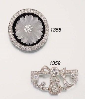 A DIAMOND, ROCK CRYSTAL AND ON