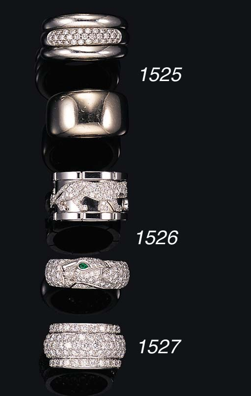 TWO 18K WHITE GOLD RINGS, BY C