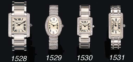 A LADY'S 18K WHITE GOLD AND LA