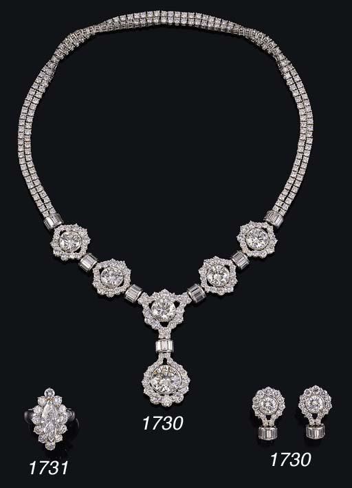 A SUITE OF DIAMOND JEWELLERY