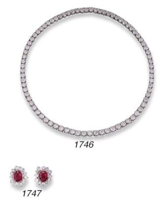 A FINE DIAMOND LINE NECKLACE