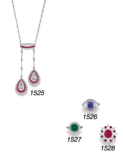 A KASHMIR SAPPHIRE AND DIAMOND